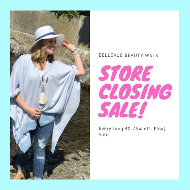 Store closing! We are having a super sale! 40-75% off everything