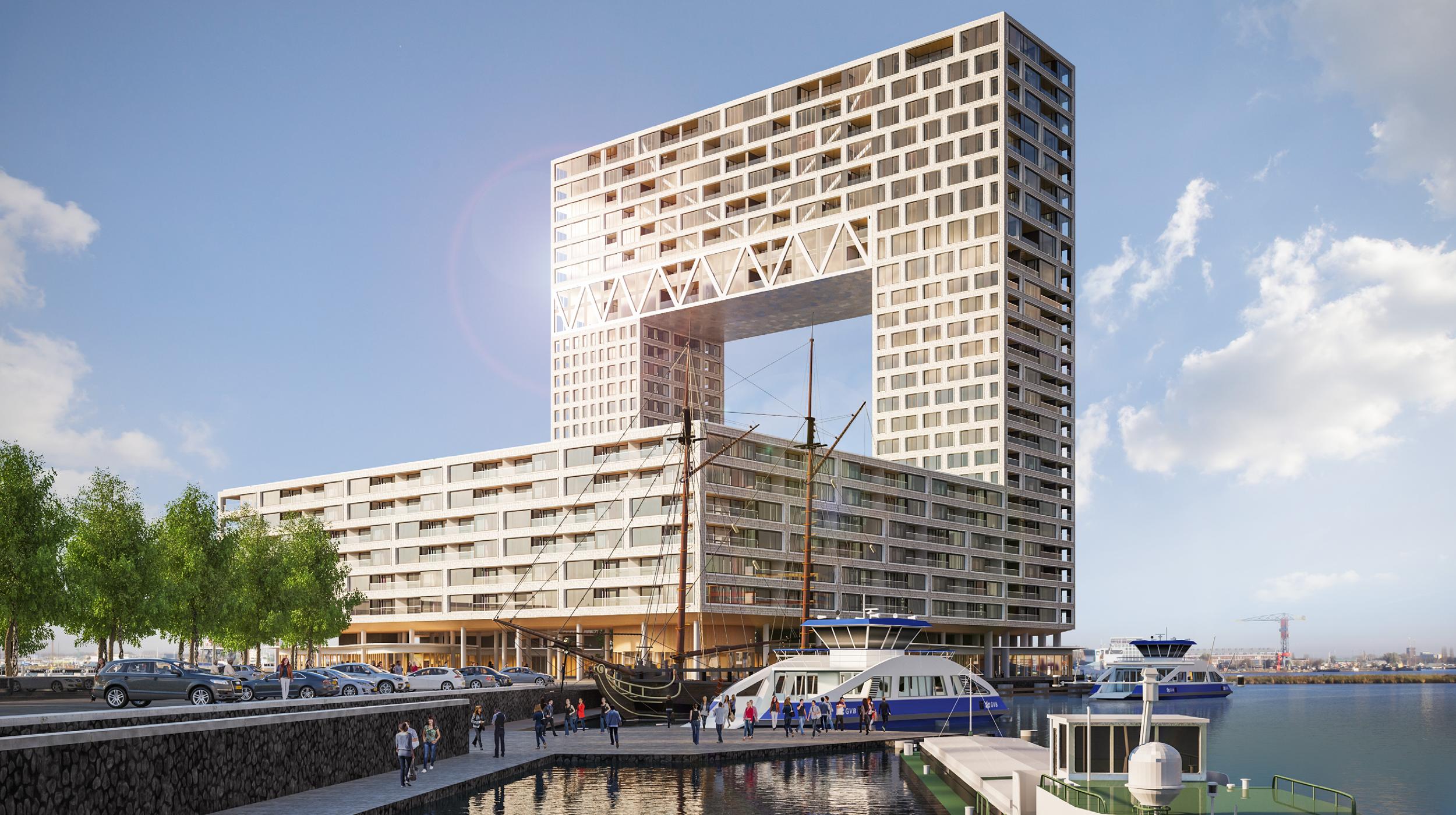 Pontsteiger houthavens Amsterdam ontwerp