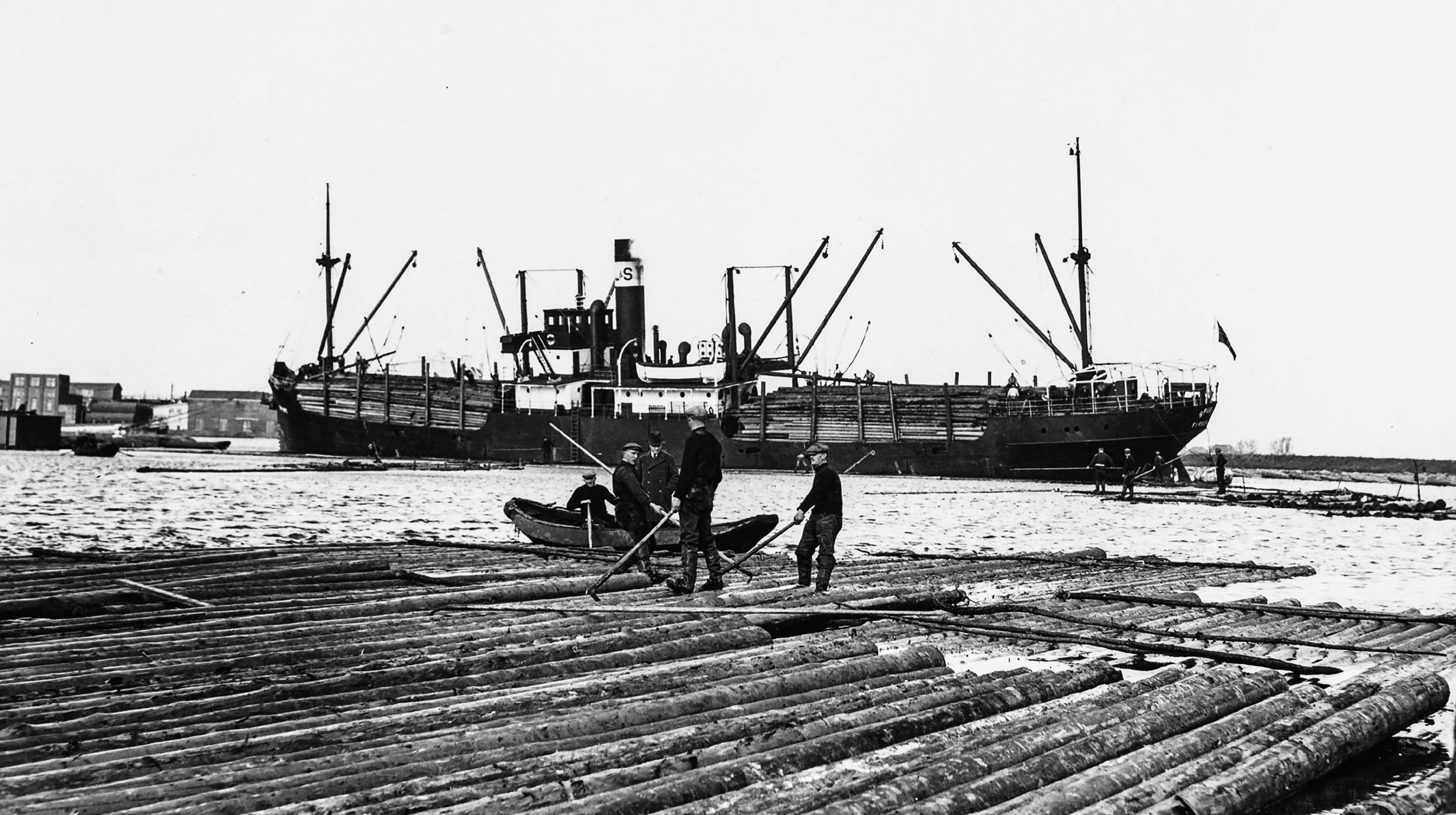 Pontsteiger houthavens Amsterdam oorspronkelijk