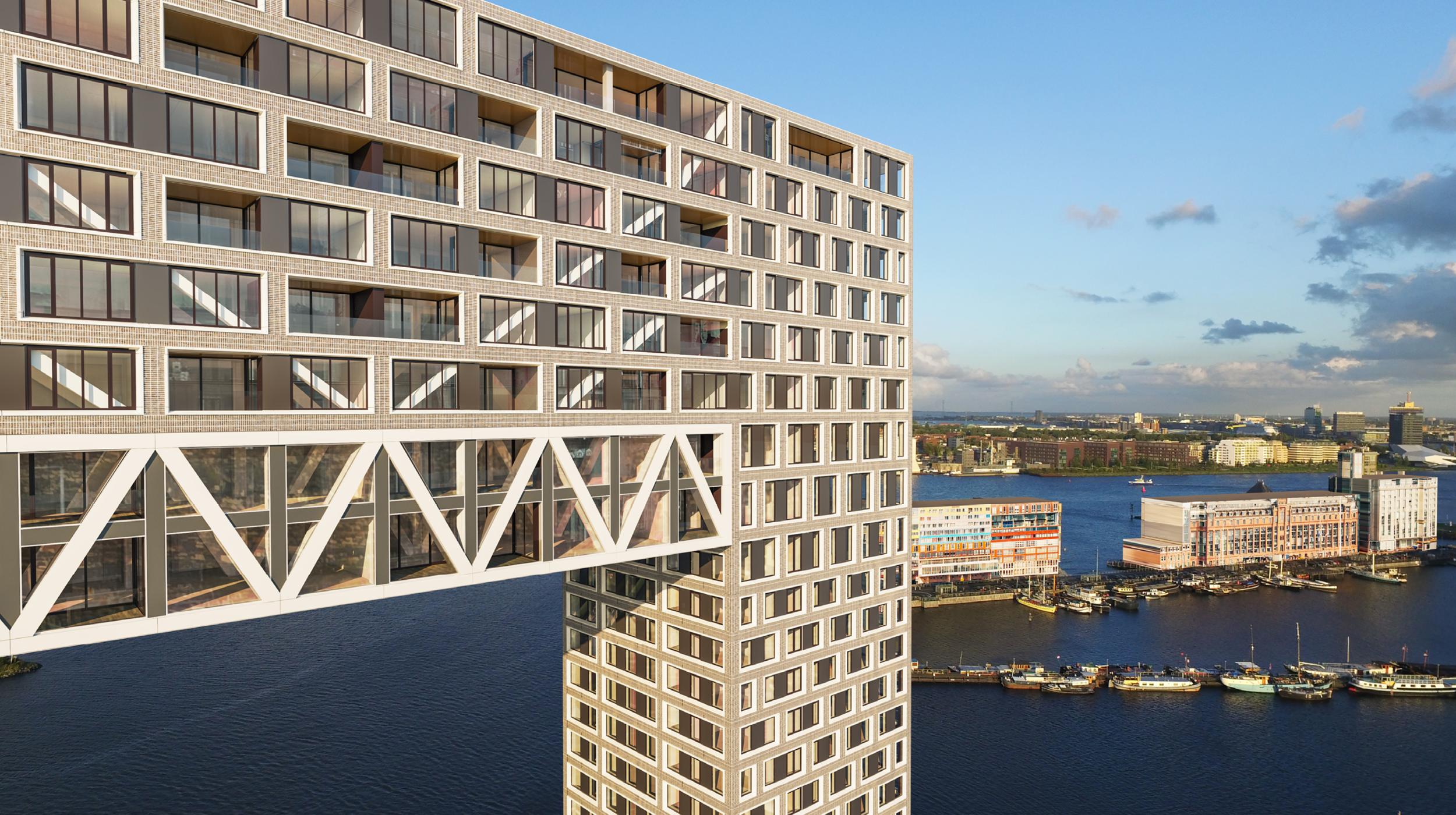 Pontsteiger houthavens Amsterdam verdieping