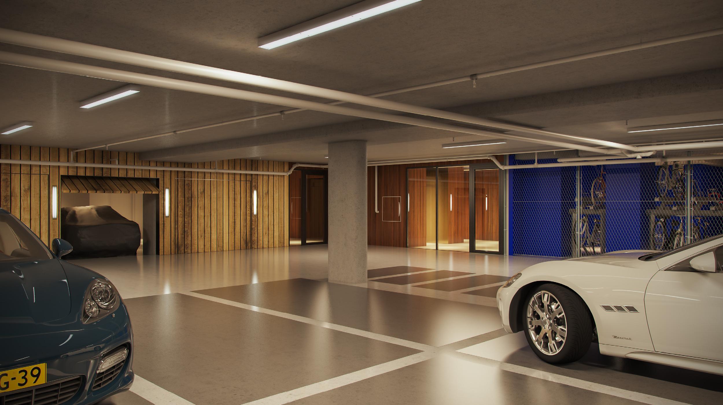 Pontsteiger houthavens Amsterdam garage