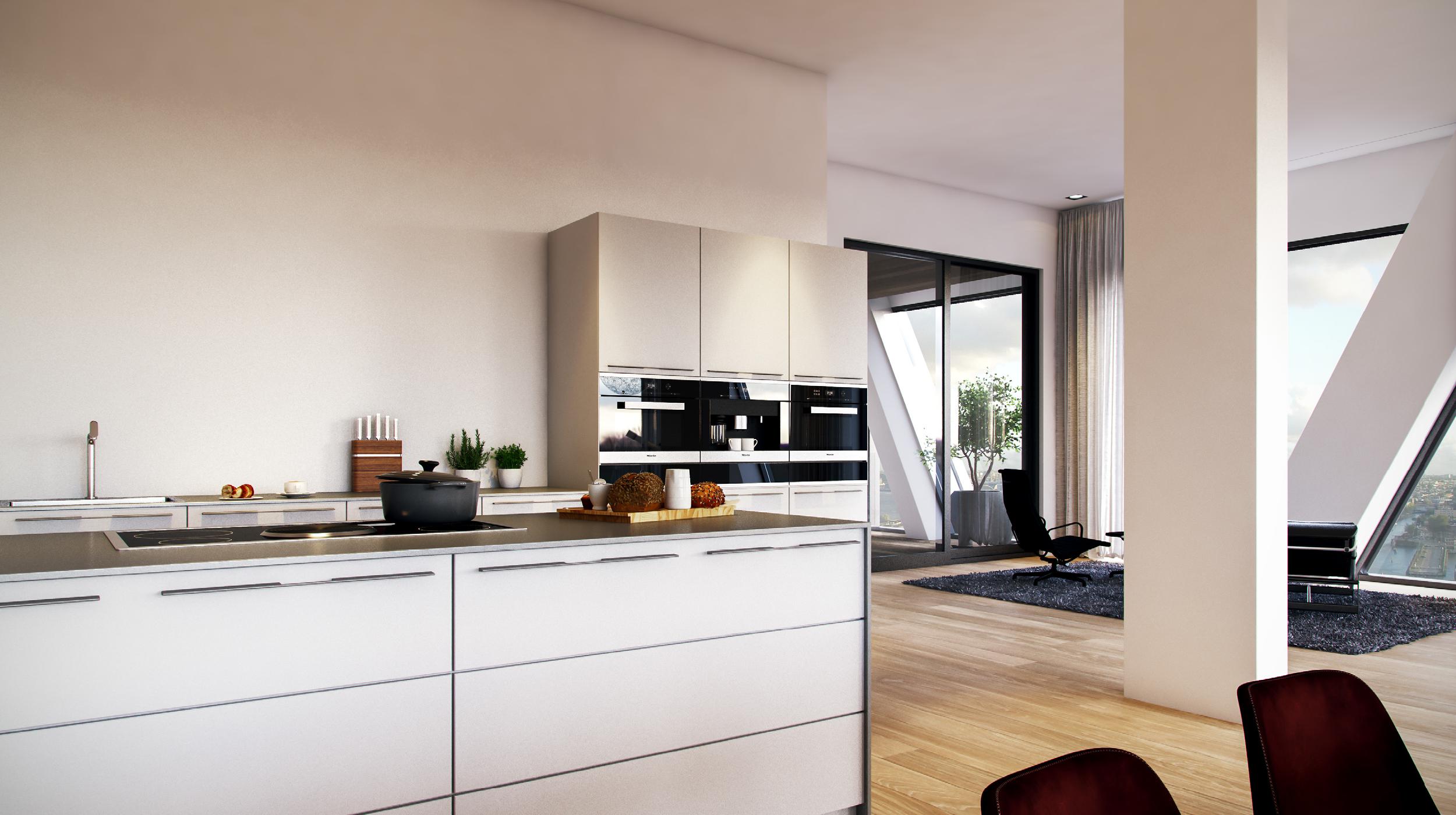 Pontsteiger houthavens Amsterdam keuken en badkamer