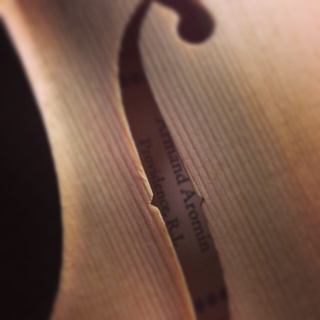 No. 8 - Stradivari f-hole and label