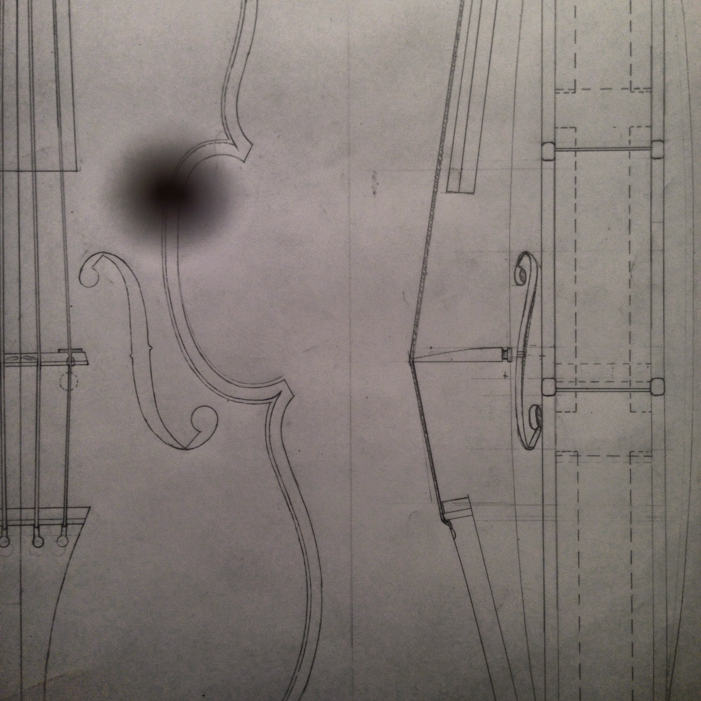 Drafting a Stradivari violin