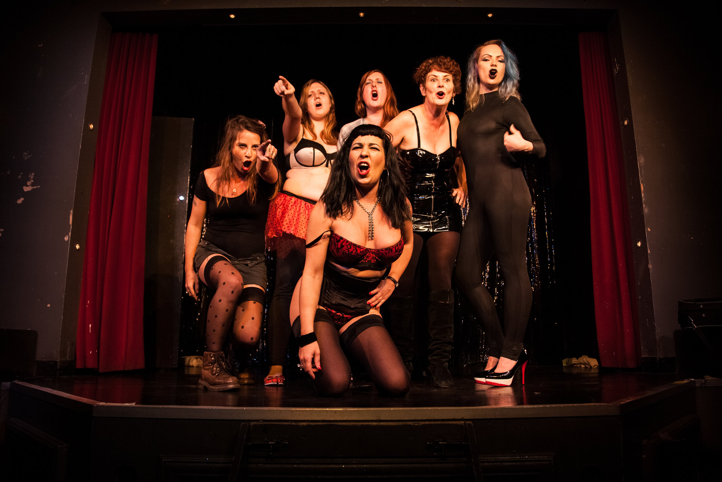 The cast of The Sex Workers' Opera