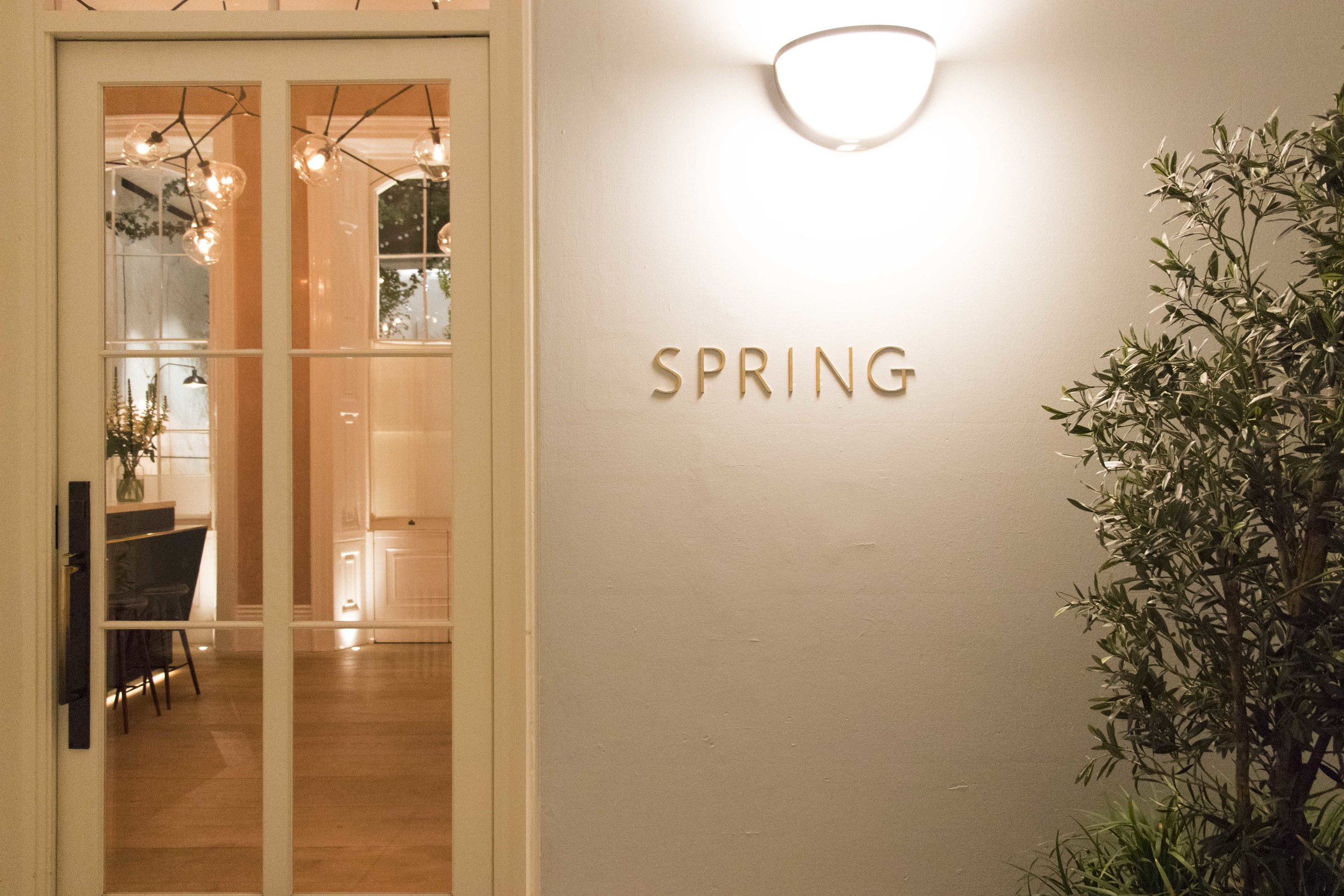 The entrance to Spring inside Somerset House. Photos by Cathy McKinnon