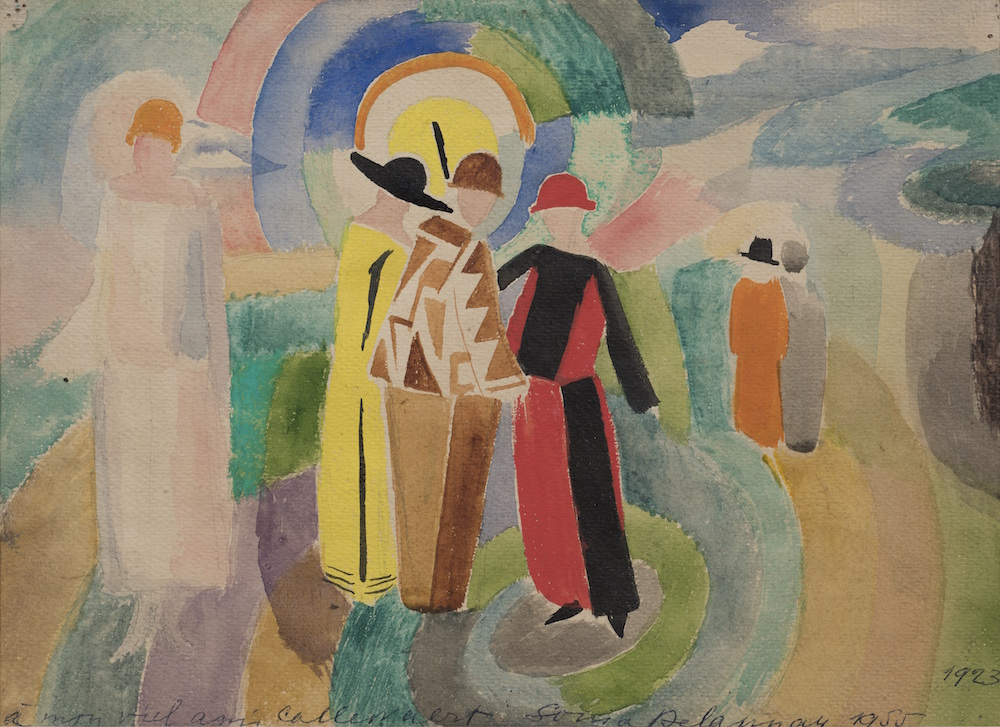 Sonia Delaunay,  Stroll , 1923. Collection of V. Tsarenkov