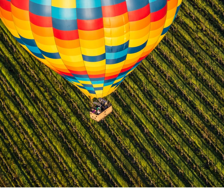 Sip & Soar through Napa  Retail Value $5,200 Opening Bid $4,000