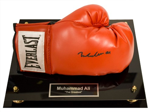 """The Greatest"" Autographed Glove  Retail Value Priceless Opening Bid $900"