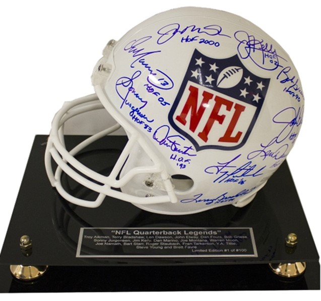 NFL Quarterback Legends  Retail Value Priceless Opening Bid $2,500