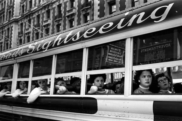 "Copy of ""Sightseeing Bus NYC"" by Harold Feinstein"