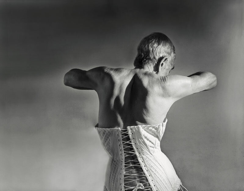 Catherine Balet - Looking for the Masters in Ricardo's Golden Shoes #29 (Tribute to Horst P. Horst, Mainbocher Corset, 1939), 2013