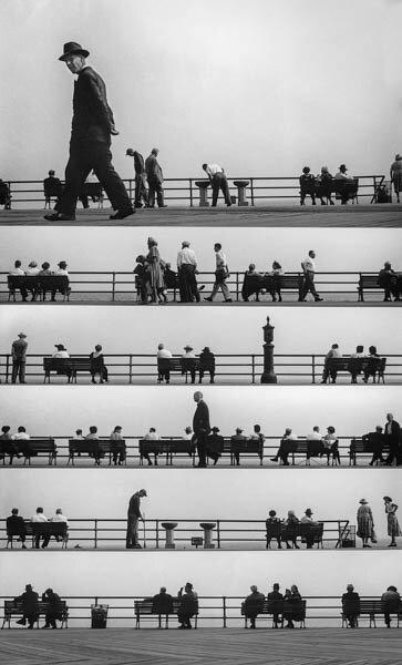 Harold Feinstein - Boardwalk Sheet Music Montage, 1952