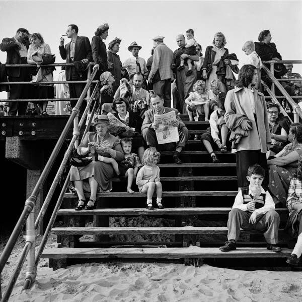 Harold Feinstein - Boardwalk Stairs, 1950
