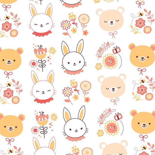 🐰🐻🌼 #drawing #pattern #cute #kawaii #illustration #oldie #dibujo #ilustracion