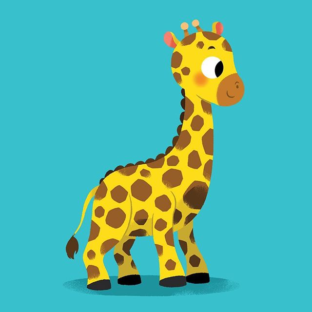 🇪🇸 Un nuevo proyecto lleno de (muchos pero muchos) animales ya está listo!) 🌟🌟🌟 🇬🇧 A new project full of baby animals is ready! Can't wait to show you more! 💓💓💓 #giraffe #cute #drawing #art #childrensillustration #kawaii #baby