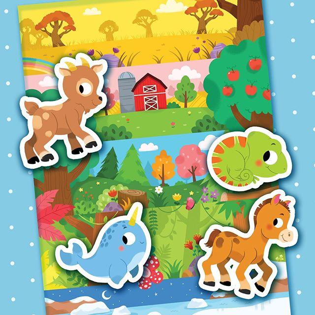 """¡Tengo un notición! 🎉🎉🎉 Ya está disponible mi último proyecto junto a @editionsauzou (¡Yay!) Se trata de un set con más de 30 stickers bajo la temática de: """"Animales bebés"""". Ideal para que los más peques jueguen y se diviertan a lo grande creando sus propias historias. 💖 Lo pueden conseguir en amazon.fr :) 🌟🌟🌟 #drawing #illustration #childrensillustration #cute #animals #babyanimals #auzou"""