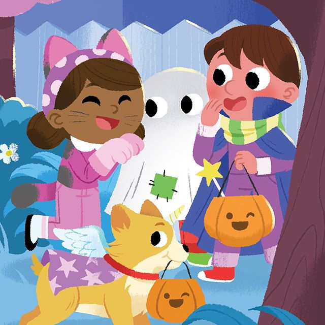 Boo to you!!! 👻🎃🌟🌙 #drawing #illustration #Halloween #cute #childrensillustration #dibujo