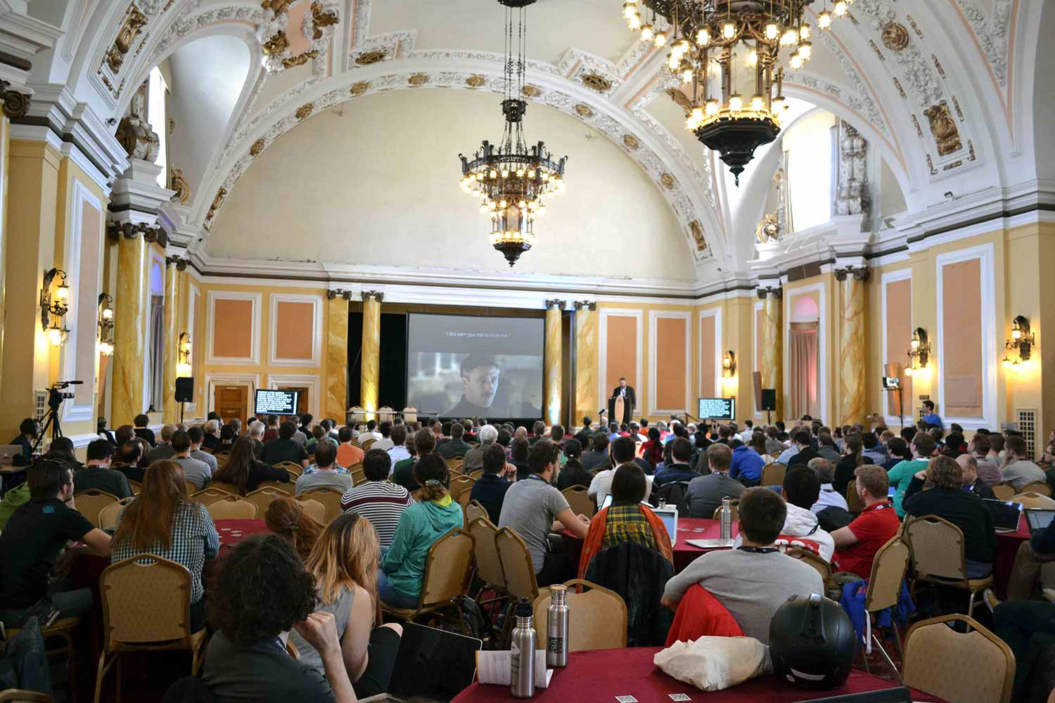 City Hall Cardiff Conference Speaker and Screen Spartan Audio Visual