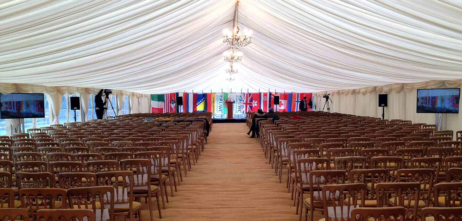Atlantic College Wales leavers ceremony. Spartan Audio Visual supply audio visual reinforcement equipment and live streaming services through our partners LAE.