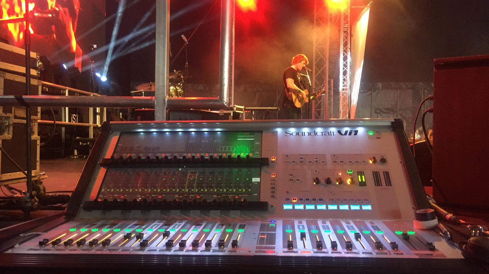 Spartan Audio Glastonbarry 2019 Soundcraft VI1 Monitor Desk