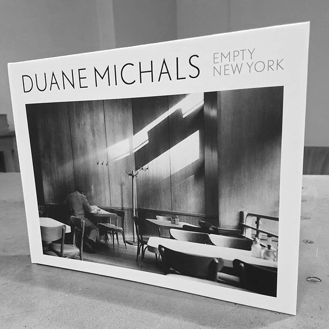 """Empty New York"" by Duane Michals.  Honored to still be working so closely with Duane for as many years as we have! Thanks for the book!  #chelseaphotographicservices #chelseaphoto #nycfilmlab #duanemichals #americanstory #emptynewyork #legend #photojournalism #darkroom #filmphotography #istillshootfilm #shootmorefilm #filmisback"