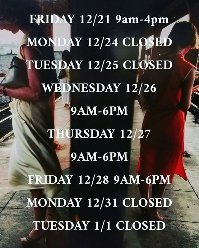 Our holiday hours are up! Closing at 4pm tomorrow so the team can enjoy the holidays!  #chelseaphotographicservices #nycdarkroom #nycphotolab #chelseaphotonyc #traditionaldarkroom #istillshootfilm #shootmorefilm #filmisback #filmisalive #mediumformat #fujifilm #kodak #ilford