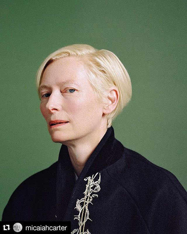 Wednesday with Tilda.  Film processed and hi-resolution scans made here @chelseaphotographic  #Repost @micaiahcarter (@get_repost) ・・・ Tilda Swinton for The New York Times shot at the Aperture Foundation, in relation her first foray into art curation in a photography show that revolves around the gender-defying themes inspired by Virginia Woolf's novel Orlando.  #chelseaphotographicservices #chelseaphoto #chelsealab #nycfilmphotographers #nycfilmlab #filmlab #istillshootfilm #shootmorefilm #filmisalive #deathtodigital #kodak_photo #kodak #ilford #fujifilm #silvergelatin #c41 #mediumformat