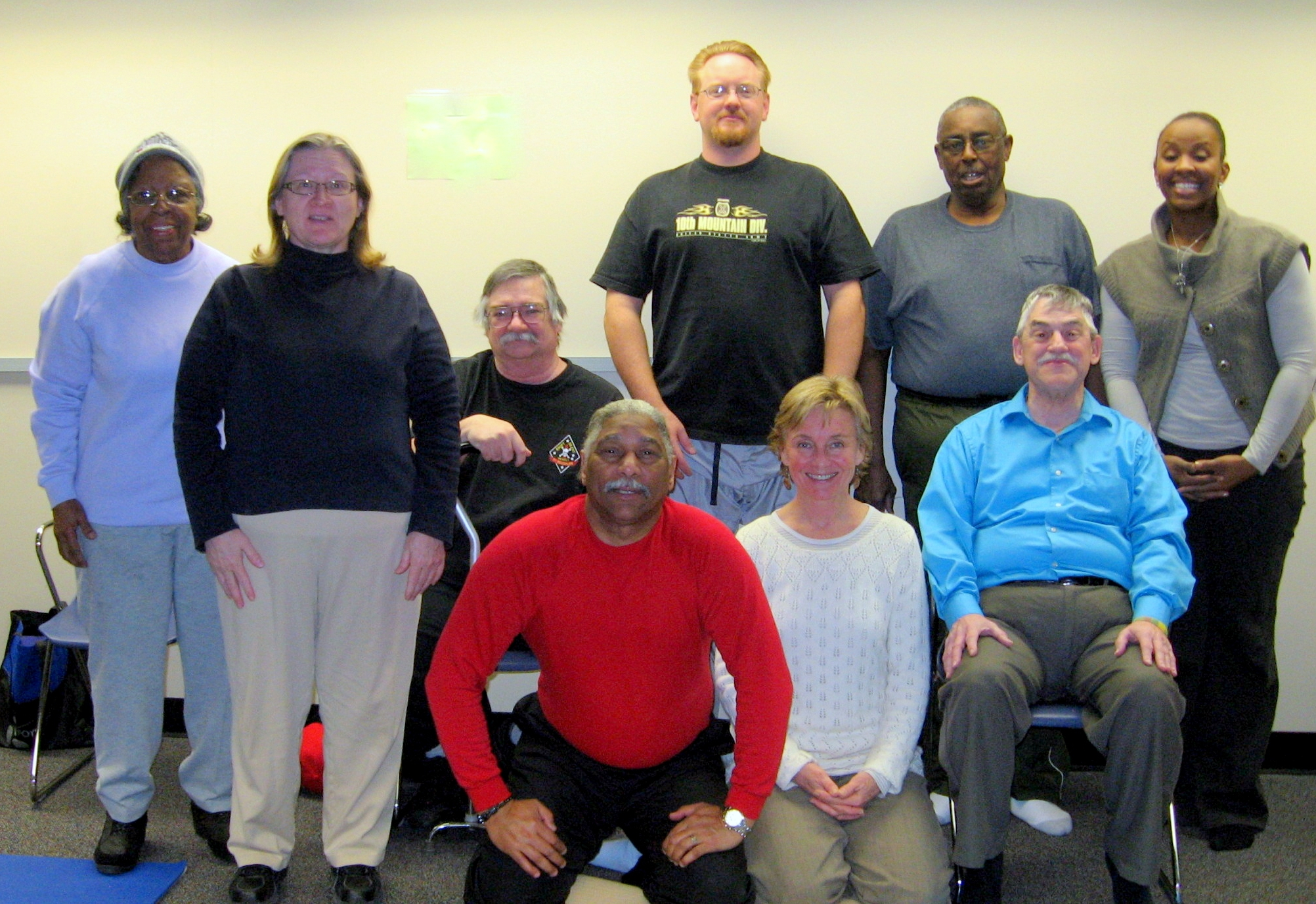 One of our 17 cohorts in our Pain Syndrome study - happy to pose for a group photo after 12 classes together. 2014