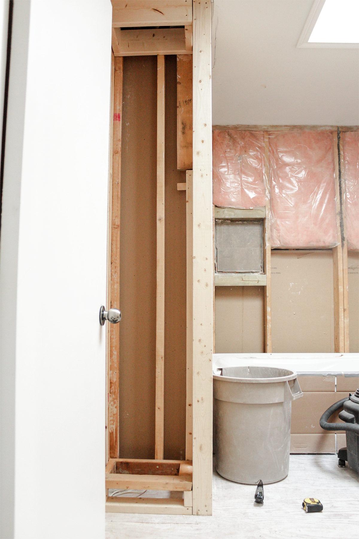 Bathroom built-in shelving plans by Ashley Izsak
