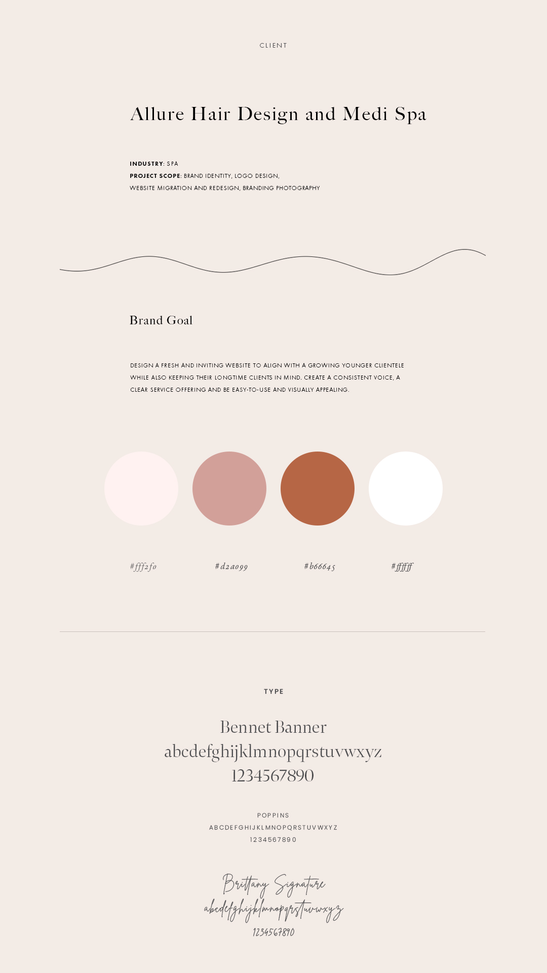 Allure Web Design Brand Goal