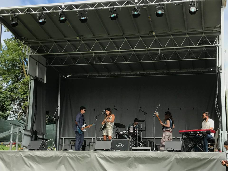Soundcheck at The Riverfest with Tom Juhas, Tara Beier, Tripp Beam, Jenna Strautman and Scott Galloway