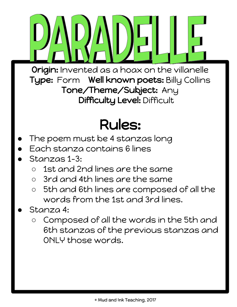 Can Your Class Write 30 Poems In 30 Days Mud And Ink Teaching Popular poetry types include haiku, free verse, sonnets, and acrostic poems. class write 30 poems in 30 days