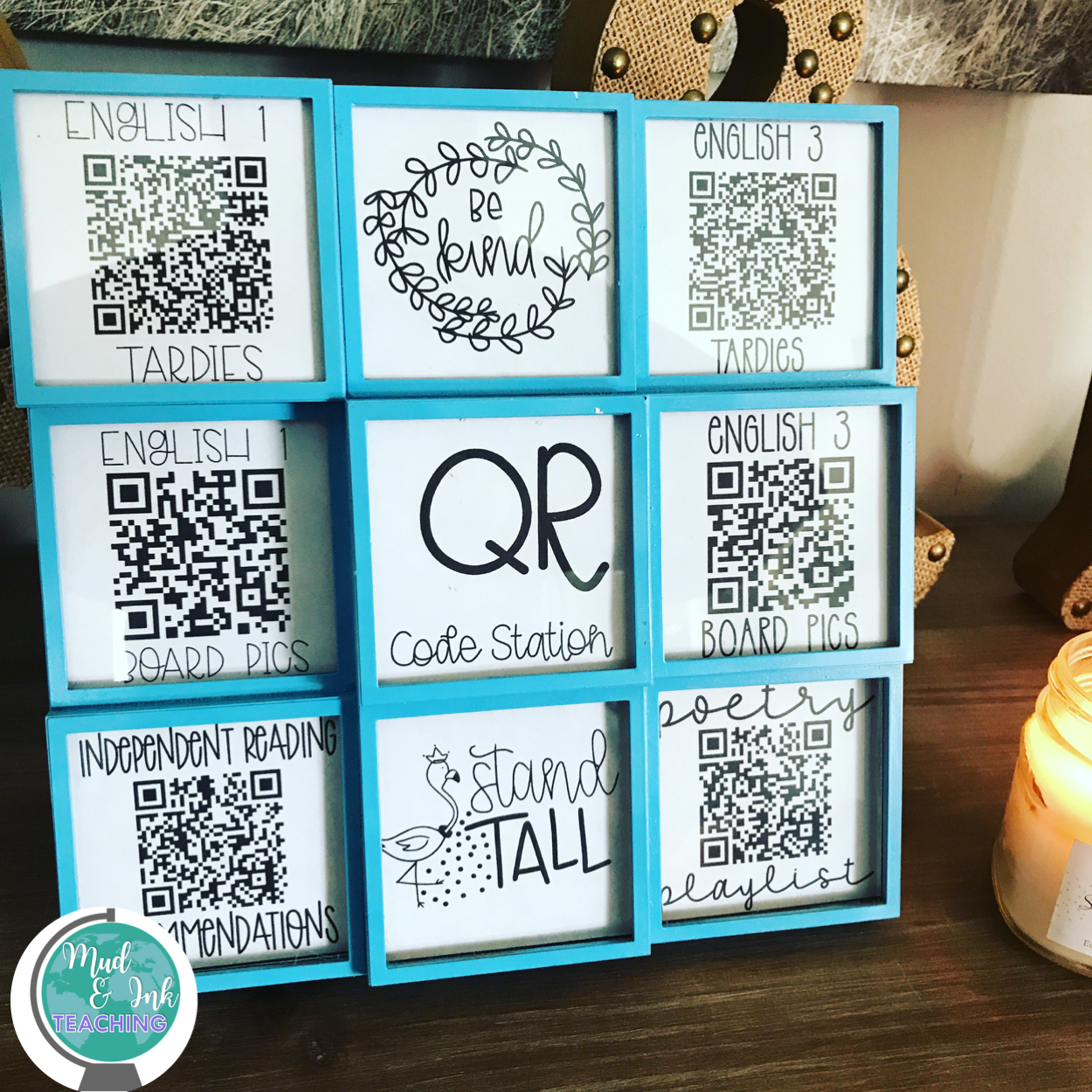 QR Codes are easily used in order to streamline classroom management!  Simply design what you need to collect, create the code, then place them in the frame!
