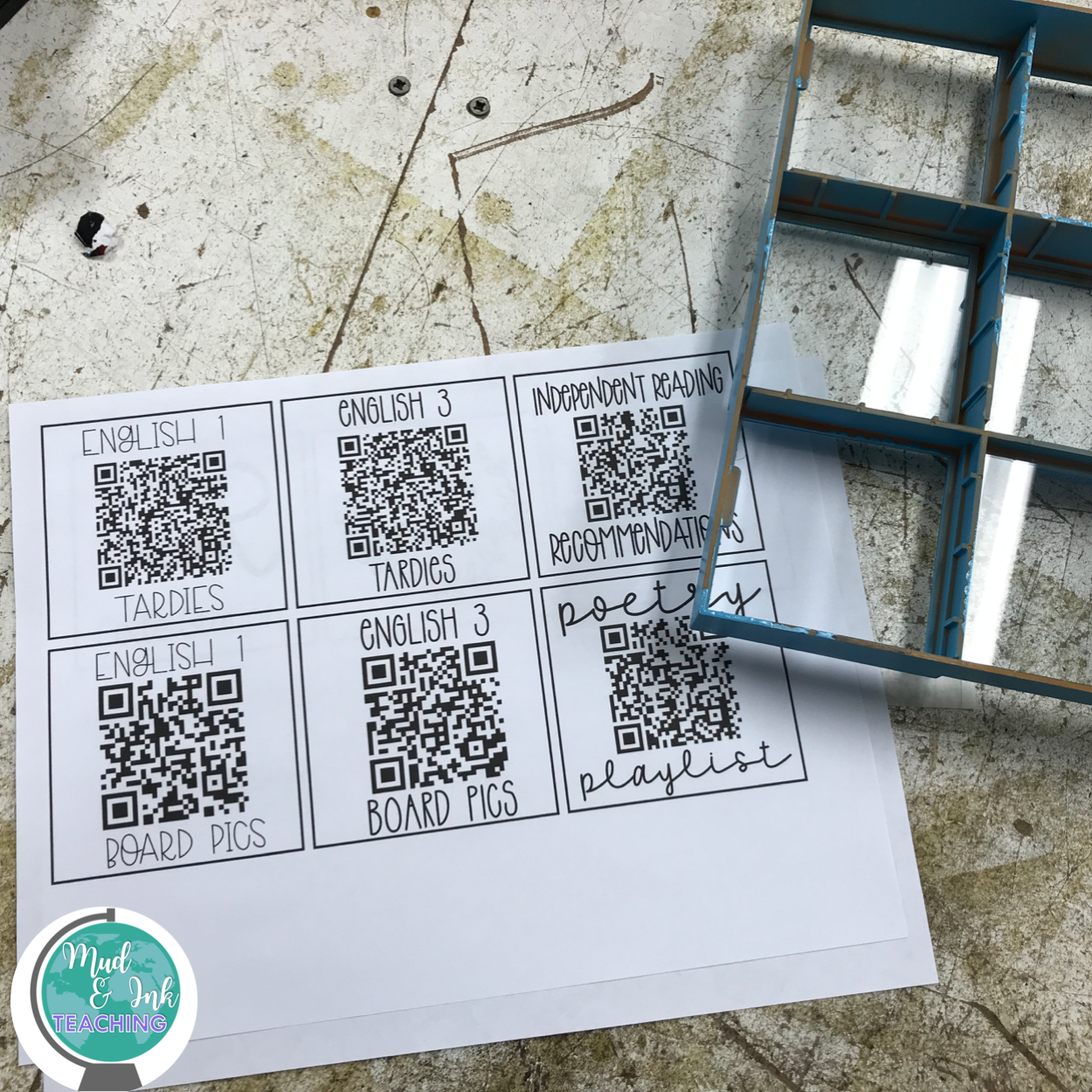 How to create a QR Code frame for classroom management.