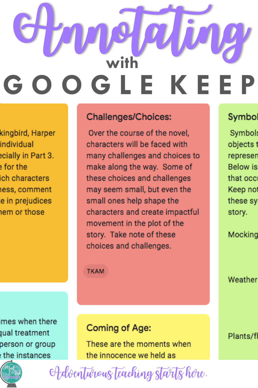 Teaching Annotation with Google Keep — Mud and Ink Teaching