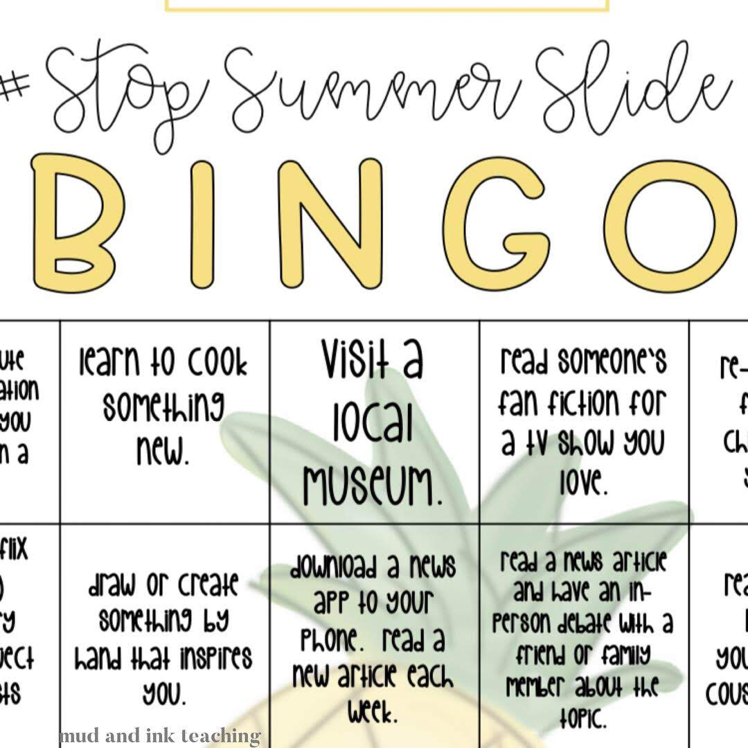 A zoomed in look at my BINGO card! For more motivating ideas,  check these out !