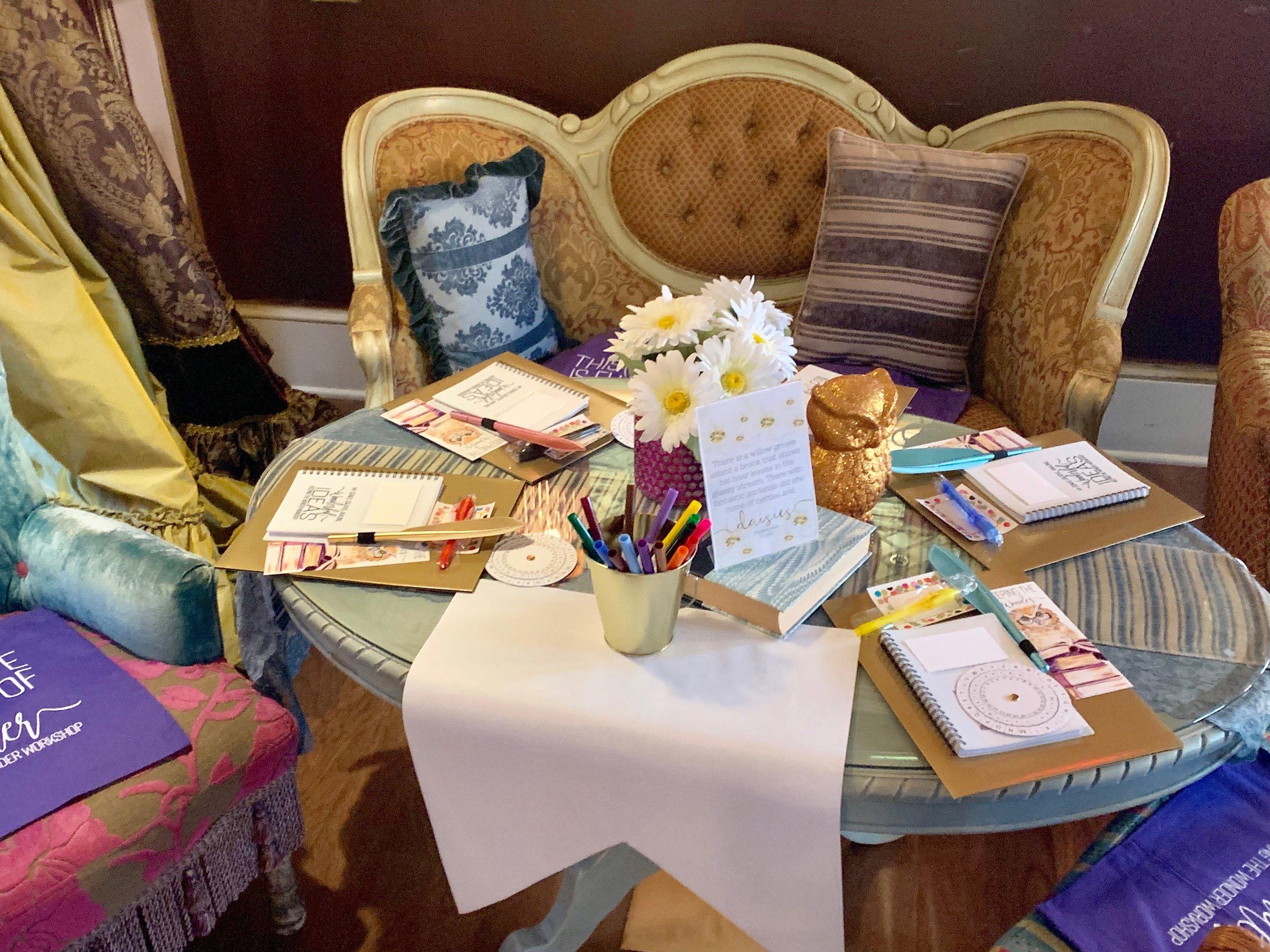 Workshop seating setup for guests. Photo Credit: Angelyne Collins