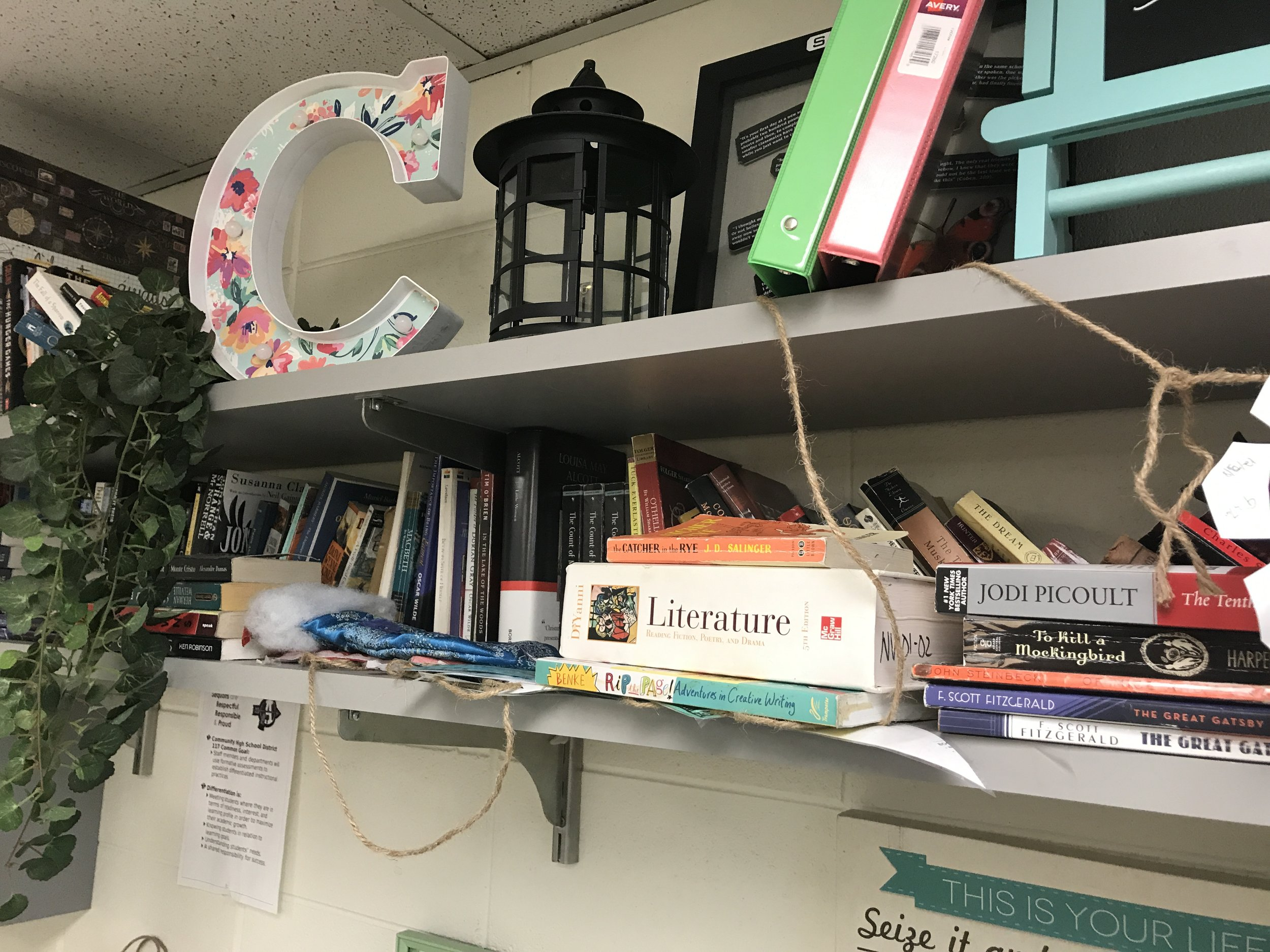 The library clutter right around June 1st…