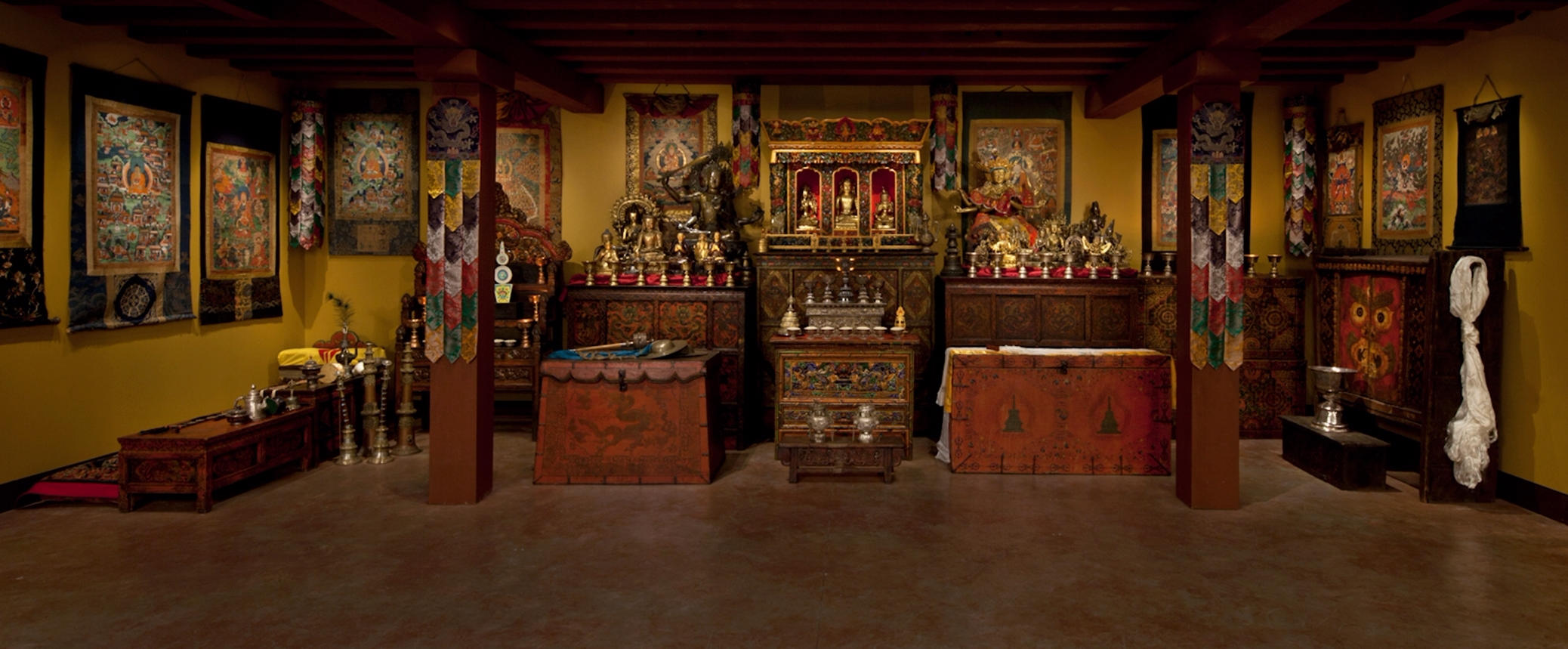 Rubin Museum Tibetan Buddist Shrine Room. Photo: Rubin Musem