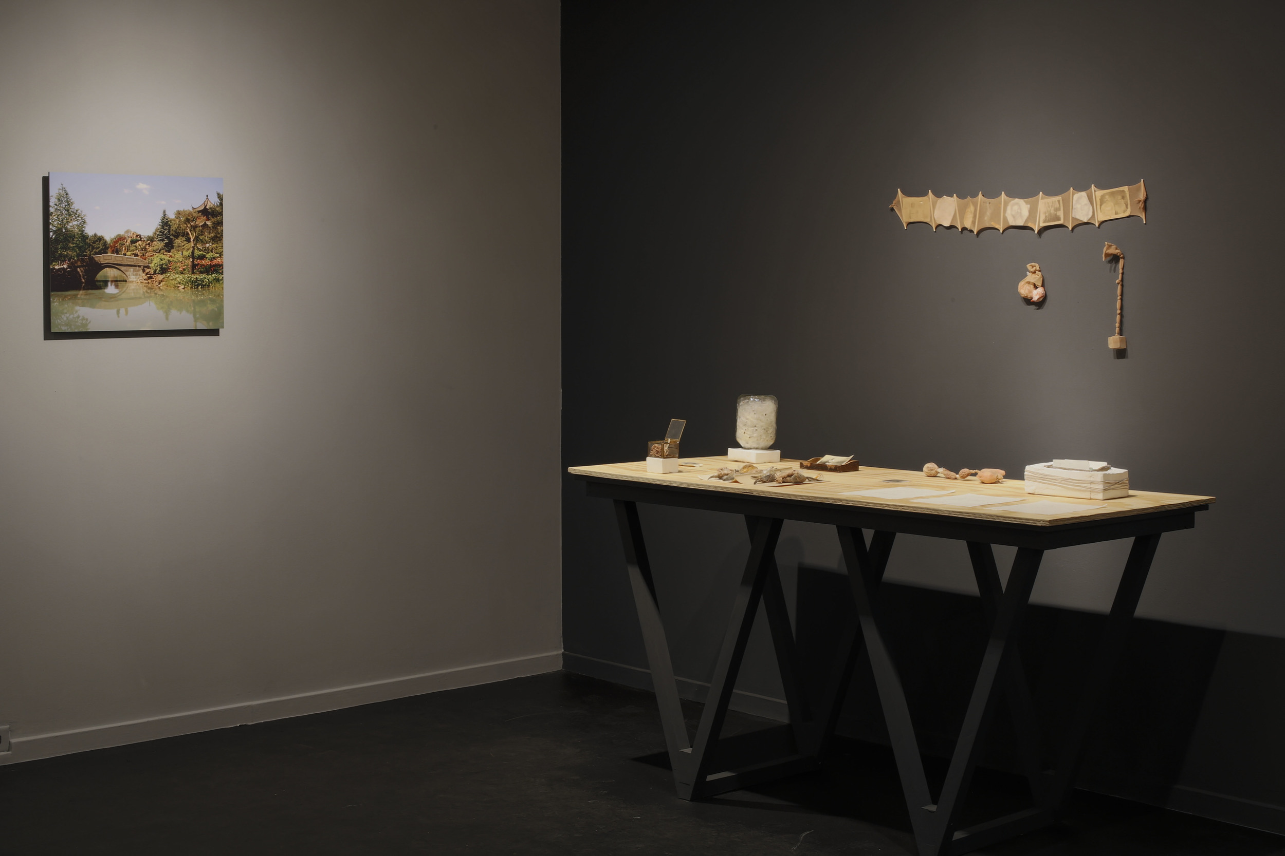 "Installation View in ""In Search of a Homeland"" in SUGS gallery. Curated by Vivienne Luo Wang"