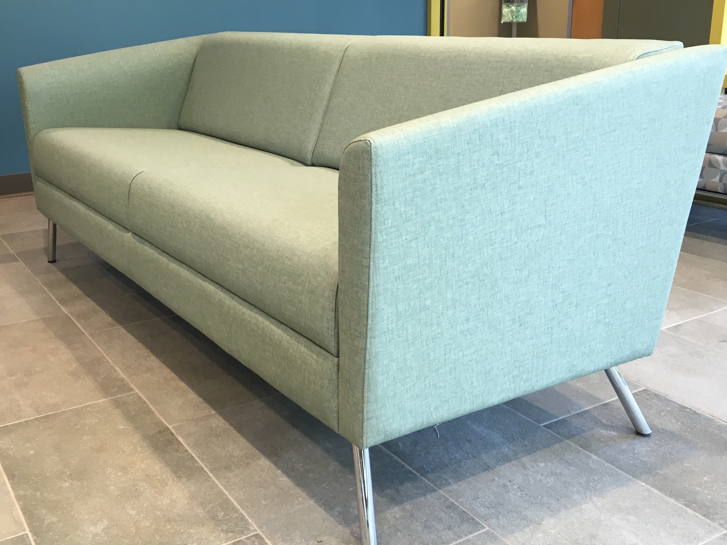 WIND Linear Sofa in Linen Aquamarine
