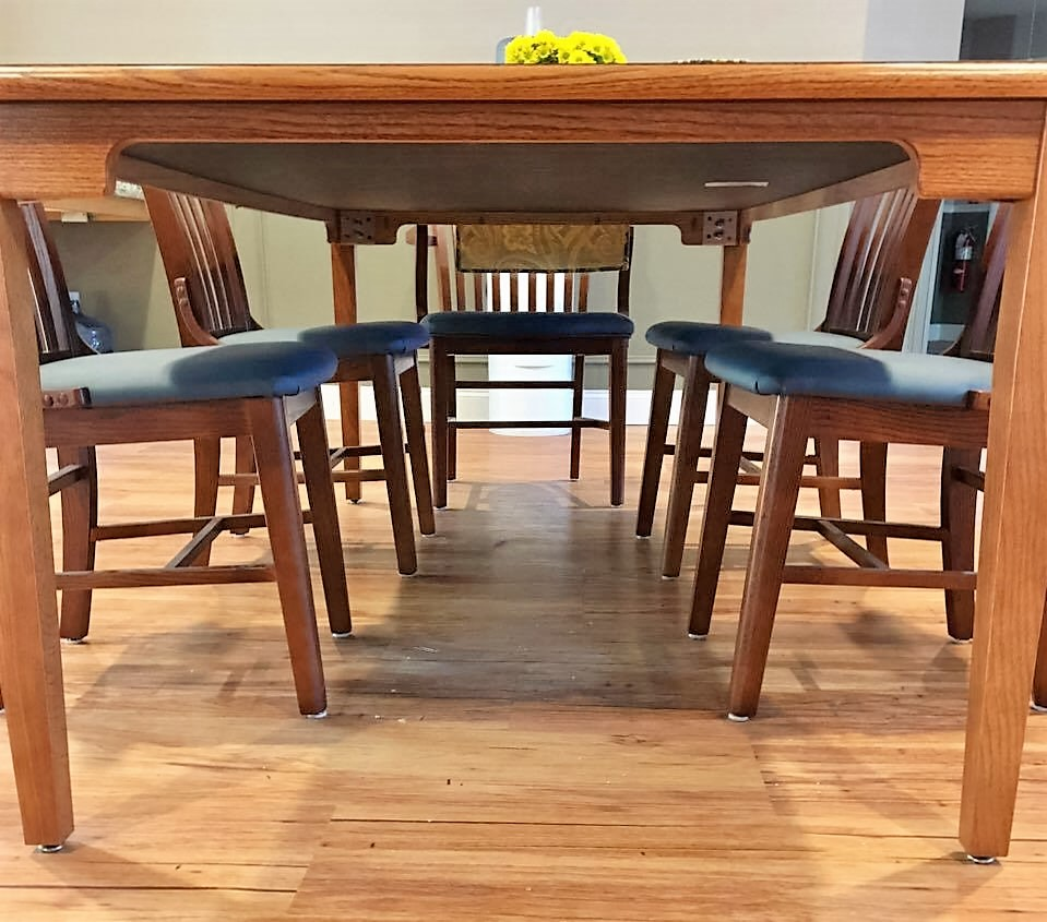 Laminate Top Table with Four Leg Base and ADA Apron