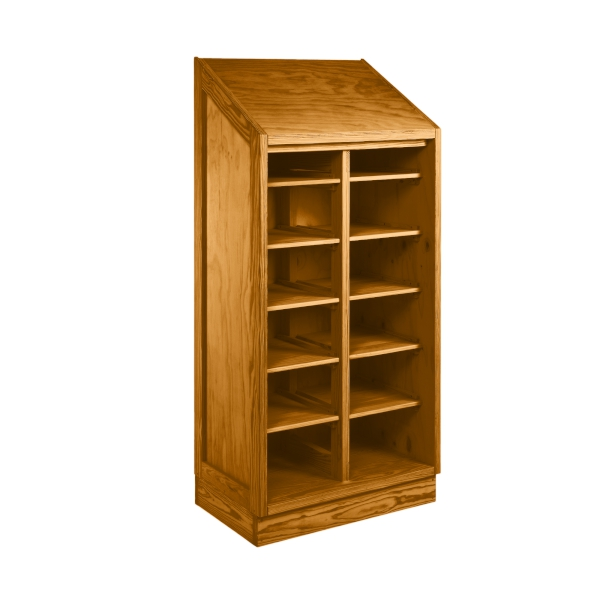Safe & Tough Wardrobe - This End Up  Slope Top - No Doors - w/5 Shelves Both Sides      Read More...