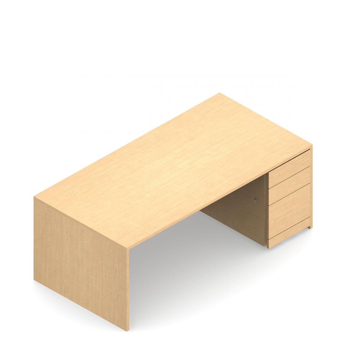 A3066S4R Full to Floor Pedestal Desk