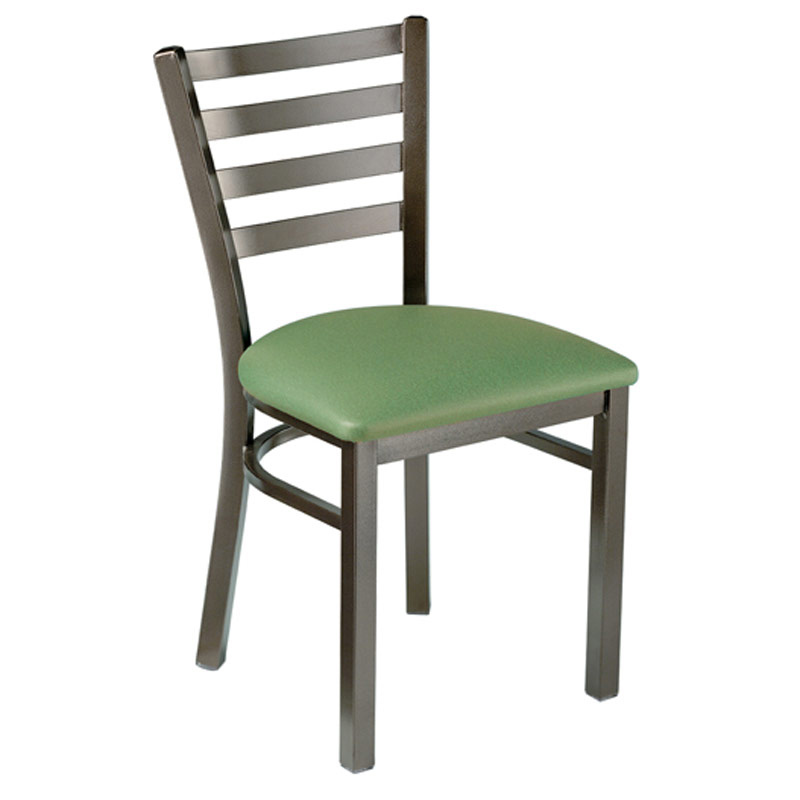Tuffy Metal Chair with Slat Back and Padded Seat