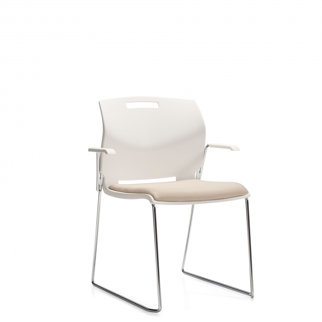 Popcorn Arm Chair with Upholstered Seat