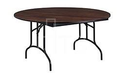 Mahogany Laminate Top Round Folding Table