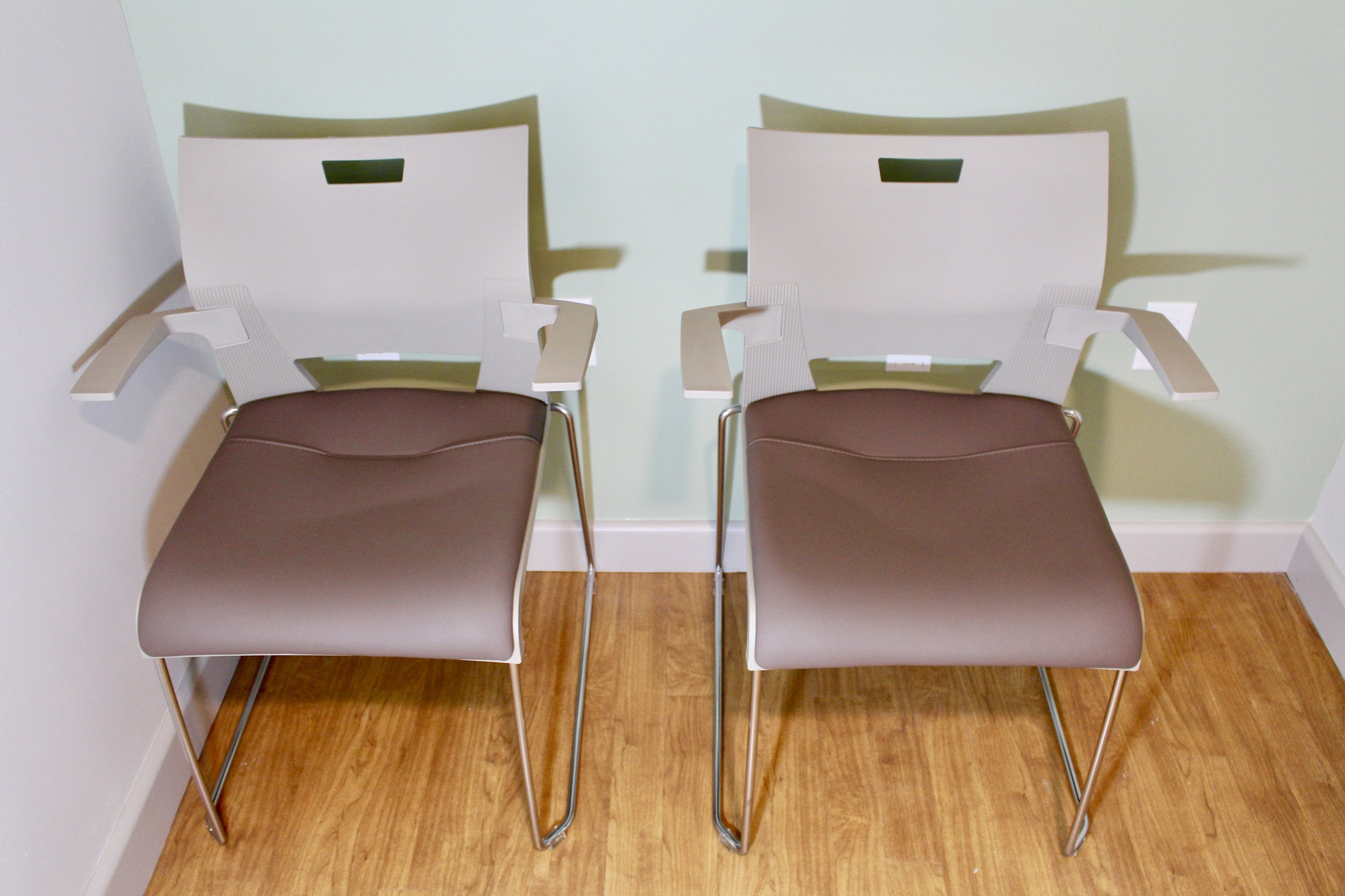 Duet Arm Chairs With Padded Seats