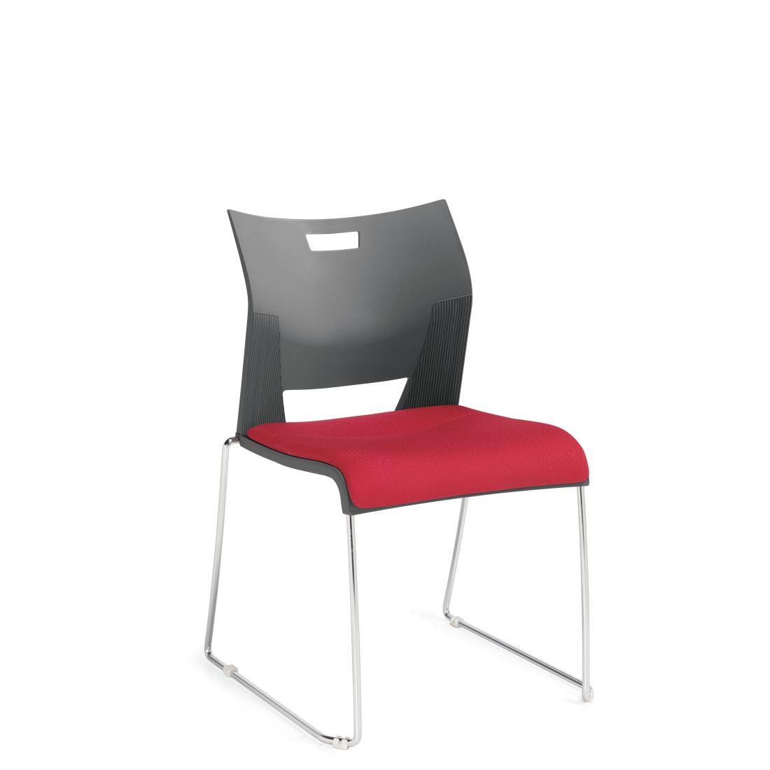 Duet side chair with padded seat